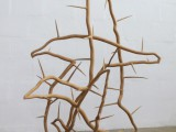 birds of thorns, 2010, eikenhout, 140x120x65